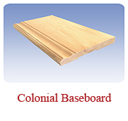 <h1>Colonial Baseboard</h1> 			The final addition to a room with a beautiful wooden floor.  Our dimensions are keeping with the trend of thicker and wider baseboards.<br /> 			        <table summary=&quot; &quot; class=&quot;datatable&quot;>         <caption></caption>         <tr>            <th scope=&quot;col&quot;>Board Size</th>           <th scope=&quot;col&quot;>Actual Coverage</th>           <th scope=&quot;col&quot;>Available Grades</th>         </tr> 		<tr>                     <td class=&quot;middle&quot;>1 X 4</td>           <td class=&quot;middle&quot;>3/4&quot; X 3 1/2&quot;</td>           <td class=&quot;middle&quot;>Select, Premium, Cottage</td>         </tr> 		<tr>           <td class=&quot;middle&quot;>1 X 6</td>           <td class=&quot;middle&quot;>3/4&quot; X 5 1/2&quot;</td>           <td class=&quot;middle&quot;>Select, Premium, Cottage</td>         </tr>       </table>