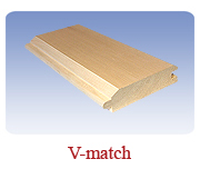 <h1>V-match (32 Pattern)</h1> 			This reversible design allows for unlimited uses.  The centermatch is often used for flooring or subflooring and the V-Joint is mostly for panelling and ceiling finishes. 			Sometimes you can do two applications at once with this multi-use design.<br /> 			        <table summary=&quot; &quot; class=&quot;datatable&quot;>         <caption></caption>         <tr>            <th scope=&quot;col&quot;>Board Size</th>           <th scope=&quot;col&quot;>Actual Coverage</th>           <th scope=&quot;col&quot;>Available Grades</th>         </tr>         <tr>                     <td class=&quot;middle&quot;>2 X 6</td>           <td class=&quot;middle&quot;>1 7/16&quot; X 5 1/4&quot;</td>           <td class=&quot;middle&quot;>Premium, Cottage</td>         </tr>         <tr>           <td class=&quot;middle&quot;>2 X 8</td>           <td class=&quot;middle&quot;>1 7/16&quot; X 7 1/4&quot;</td>           <td class=&quot;middle&quot;>Premium, Cottage</td>         </tr>       </table>