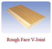 <h1>Rough Face V-Joint</h1> 			Standard V-Joint Panelling look but with a rough face. Gives a bold and rustic appearance to panelling that looks great.<br /> 			        <table summary=&quot; &quot; class=&quot;datatable&quot;>         <caption></caption>         <tr>            <th scope=&quot;col&quot;>Board Size</th>           <th scope=&quot;col&quot;>Actual Coverage</th>           <th scope=&quot;col&quot;>Available Grades</th>         </tr>         <tr>                     <td class=&quot;middle&quot;>1 X 6</td>           <td class=&quot;middle&quot;>3/4&quot; X 5 1/4&quot;</td>           <td class=&quot;middle&quot;>Premium, Cottage</td>         </tr></table>