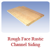 <h1>Rustic Channel Siding</h1> 			An alternate look for an exterior siding with a rustic face.  Also a reversible pattern, you get the standard shiplap on the reverse side.<br /> 			        <table summary=&quot; &quot; class=&quot;datatable&quot;>         <caption></caption>         <tr>            <th scope=&quot;col&quot;>Board Size</th>           <th scope=&quot;col&quot;>Actual Coverage</th>           <th scope=&quot;col&quot;>Available Grades</th>         </tr>         <tr>                     <td class=&quot;middle&quot;>1 X 8</td>           <td class=&quot;middle&quot;>3/4&quot; X 7 1/4&quot;</td>           <td class=&quot;middle&quot;>Premium, Cottage</td>         </tr></table>
